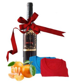 Wine, T-Shirt and Oranges Set