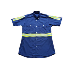 Worker's Shirt with 3M Reflective Tape (Navy)